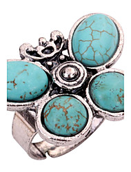 cheap -Women's Knuckle Ring Turquoise Green Turquoise Alloy Personalized Casual Stage Jewelry Butterfly Adorable