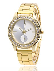 cheap -Men's Women's Wrist Watch Simulated Diamond Watch Diamond Watch Quartz Metal Silver / Gold / Rose Gold Hot Sale Analog Charm Fashion - Gold Silver Rose Gold