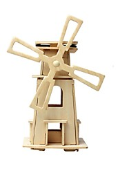 abordables -RUOTAI Puzzles 3D Maquettes de Bois Moulin à vent Solaire En bois 1 pcs Enfant Jouet Cadeau