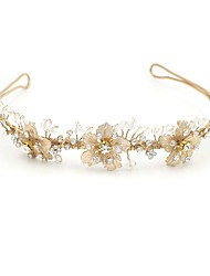 cheap -Tulle / Rhinestone / Alloy Tiaras / Headbands with Feather 1 Wedding / Birthday / Event / Party Headpiece