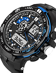 cheap -Men's Women's Sport Watch Military Watch Smartwatch Digital Charm Water Resistant / Waterproof Analog - Digital Black Red Blue / Silicone / Alarm / Calendar / date / day / Chronograph / Slide Rule