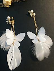 cheap -Women's Clip on Earring Ladies Classic Tassel Earrings Jewelry White For Wedding Party
