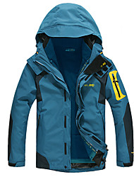 cheap -Men's Hiking 3-in-1 Jackets Winter Outdoor Thermal / Warm Windproof Breathable water-resistant Jacket 3-in-1 Jacket Top Full Length Visible Zipper Camping / Hiking Hunting Fishing Army Green / Dark