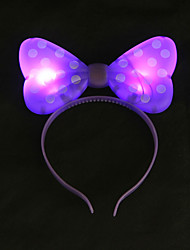 cheap -1PC Glow LED Bow Headband for Bar Evening Party Decoration as Children's Day Gifts Ramdon Color