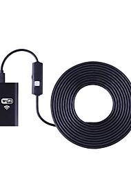 abordables -wifi endoscope caméra 8mm lentille 5 m dur câble endoscope étanche caméra d'inspection HD pour ios android endoskop pc tablet
