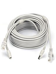 Недорогие -Кабели 66ft Ethernet Cable RJ45 & DC Power CAT5/CAT-5e Extension CCTV Cable Line для Безопасность системы 2000cm 1kg