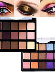 cheap -15 Colors Eyeshadow Palette Powders Matte Shimmer Matte Shimmer Ammonia Free Formaldehyde Free Glitter Shine smoky Waterproof Breathable Natural Daily Makeup Halloween Makeup Party Makeup Cosmetic