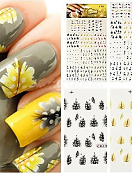 cheap -Sticker Nail Stamping Template Daily Fashion High Quality