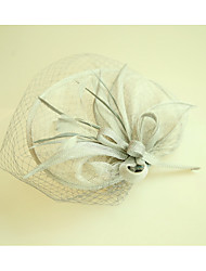 cheap -Flax / Net Fascinators / Hats with 1 Wedding / Special Occasion Headpiece