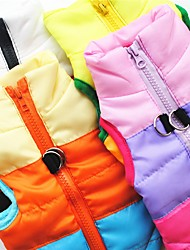 cheap -Dog Vest Coat Harness Puppy Clothes Color Block Casual / Daily Outdoor Winter Dog Clothes Puppy Clothes Dog Outfits Black Red Blue Costume for Girl and Boy Dog Terylene Cotton XS S M L