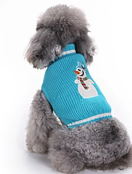cheap -Dog Sweater Winter Dog Clothes Blue Costume Acrylic Fibers Christmas Christmas XXS XS S M L XL