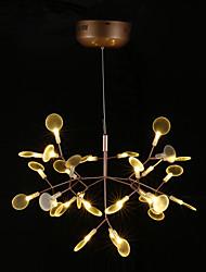 cheap -KWB Chandelier Ambient Light Brass Metal LED 110-120V / 220-240V Warm White / White