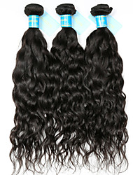 cheap -3 Bundles Indian Hair Water Wave Unprocessed Human Hair 300 g Natural Color Hair Weaves / Hair Bulk 8-30 inch Human Hair Weaves Full Head Set Human Hair Extensions / 8A