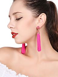 cheap -Women's Drop Earrings Hoop Earrings Tassel Earrings Jewelry Fuchsia / Red / Light Blue For Party Festival