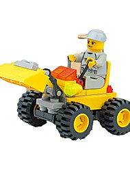cheap -Building Blocks Model Building Kit Wheel Excavator Excavating Machinery Soft Plastic 1 pcs Kid's Toy Gift
