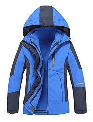 cheap -Women's Hiking 3-in-1 Jackets Outdoor Winter Windproof 3-in-1 Jacket Winter Jacket Top Full Length Visible Zipper Camping / Hiking Climbing Cycling / Bike Army Green / Red / Blue