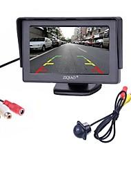Недорогие -ziqiao® 2 in1 tft 4,3-дюймовый автомобильный монитор tc lcd с подсветкой для заднего вида с подсветкой камеры заднего вида ccd для ночного видения с автомобильными мониторами
