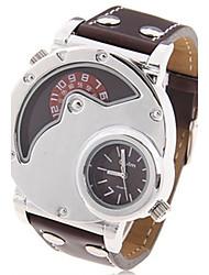 cheap -Men's Fashion Watch Dress Watch Wrist Watch Quartz Leather Analog Brown