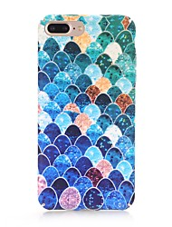 cheap -Case For Apple iPhone X / iPhone 8 Plus / iPhone 8 Frosted / Pattern Back Cover Geometric Pattern Hard PC