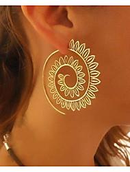 cheap -Women's Hoop Earrings Statement Ladies Earrings Jewelry Gold / Silver For Daily 1pc