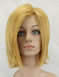 cheap -Synthetic Wig Straight Straight Bob Wig Blonde Medium Length Light golden Synthetic Hair Women's Middle Part Blonde hairjoy