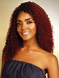 Недорогие -8 Связок Бразильские волосы Кудрявый Классика Натуральные волосы Омбре Омбре Ткет человеческих волос Расширения человеческих волос / 8A