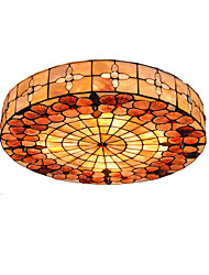 cheap -4-Light Diameter 50cm Tiffany Ceiling Light Shell Shade Living Room Bedroom Dining Room Flush Mount