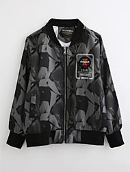 cheap -Kids Boys' Geometric Long Sleeve Cotton Jacket & Coat Black
