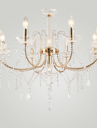 cheap -LWD 9-Light 76 cm Crystal / Adjustable / Designers Chandelier Metal Electroplated Romantic 110-120V / 220-240V