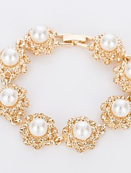 cheap -Women's Chain Bracelet Imitation Diamond Imitation Pearl Fashion Classic Imitation Pearl Alloy Circle Jewelry For Wedding Stage