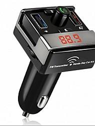 Недорогие -dual usb bluetooth hands-free mp3 audio player автомобиль fm передатчик поддержка tf карта usb флеш-диск для android ios me3l