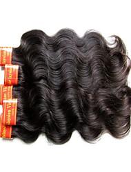 Недорогие -Необработанные / Не подвергавшиеся окрашиванию / Remy плетение волос / Пряди натуральных волос Реми Мужское плетение / Для темнокожих женщин / 100% девственница Естественные кудри