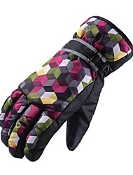 cheap -Ski Gloves Boys' Girls' Kid's Snowsports Full Finger Gloves Winter Warm Protective Cloth Cotton Ski / Snowboard