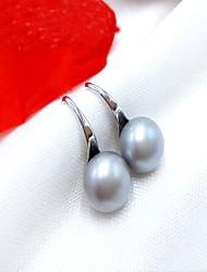cheap -Women's Pearl Stud Earrings Drop Earrings Ladies Simple Style Fashion Pink Pearl Gray Pearl Earrings Jewelry Gray / Purple / Pink For Daily Casual