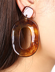 cheap -Women's Drop Earrings Hoop Earrings Ladies Oversized Earrings Jewelry skin / Chocolate / Coffee For Party Formal