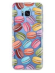 cheap -Case For Samsung Galaxy S8 Plus / S8 / S7 edge Pattern Back Cover Food Soft TPU