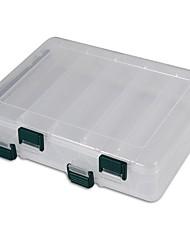 Недорогие -Коробка для рыболовной снасти Коробка для рыболовной снасти 2 Поддоны пластик 19.5 cm*16 см*4.5 cm