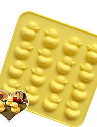 Недорогие -16 отверстий милая утка силиконовые формы торт поделки мороженое плесень лоток