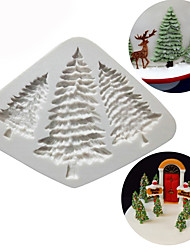 cheap -Silicone Christmas Tree Cake Mold Pine Tree Chocolate Cookies Mould Kitchen Baking Tools