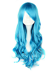 cheap -Cosplay Wigs Women's 28 inch Heat Resistant Fiber Blue Anime / Classic Lolita Dress