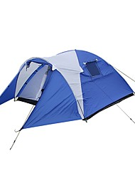 cheap -4 person Family Tent Outdoor Waterproof Double Layered Camping Tent 1500-2000 mm for Camping / Hiking / Caving Picnic 320*225*130 cm