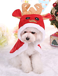 cheap -Dog Coat British Christmas Winter Dog Clothes Puppy Clothes Dog Outfits Red Costume for Girl and Boy Dog Cotton XS S M L XL