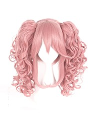 cheap -Cosplay Cosplay Schoolgirls Cosplay Wigs Men's Women's 16 inch Heat Resistant Fiber Anime Wig