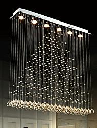 cheap -6-Light 100 cm Crystal Bulb Included Designers Chandelier Metal Crystal Electroplated Chic & Modern 110-120V 220-240V GU10
