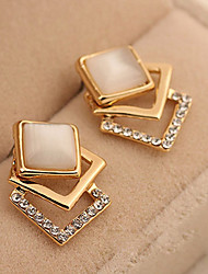cheap -Women's Synthetic Diamond Stud Earrings Ladies Fashion Classic Zircon Earrings Jewelry Gold For Daily Stage