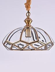 cheap -1-Light 30 cm Mini Style Pendant Light Metal Oil-rubbed Bronze Traditional / Classic 110-120V / 220-240V