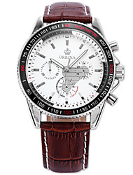 cheap -Men's Fashion Watch Quartz Leather Black / Brown 30 m Water Resistant / Waterproof Calendar / date / day Analog Black Brown
