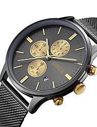cheap -Men's Wrist Watch Japanese Quartz Stainless Steel Black / Silver / Rose Gold 30 m Calendar / date / day Analog Charm Classic Fashion - Silver Black / Gold Black / Rose Gold