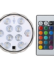 cheap -1 set 4 W LED Smart Bulbs 200-250 lm B 10 LED Beads SMD 5050 Waterproof Remote-Controlled Decorative RGB 4.5 V
