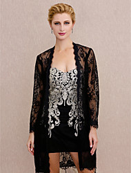 cheap -Coats / Jackets Lace Wedding / Party / Evening Women's Wrap With Lace